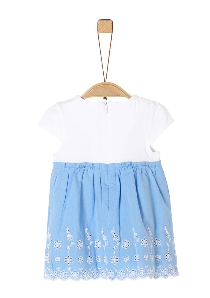 Kleid Blau Lochmuster Mädchen Soliver