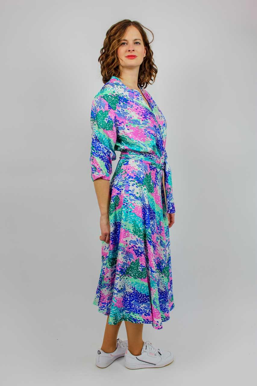 """Kleid Blau Weiß Midi """"Silke""""  Oma Klara"""