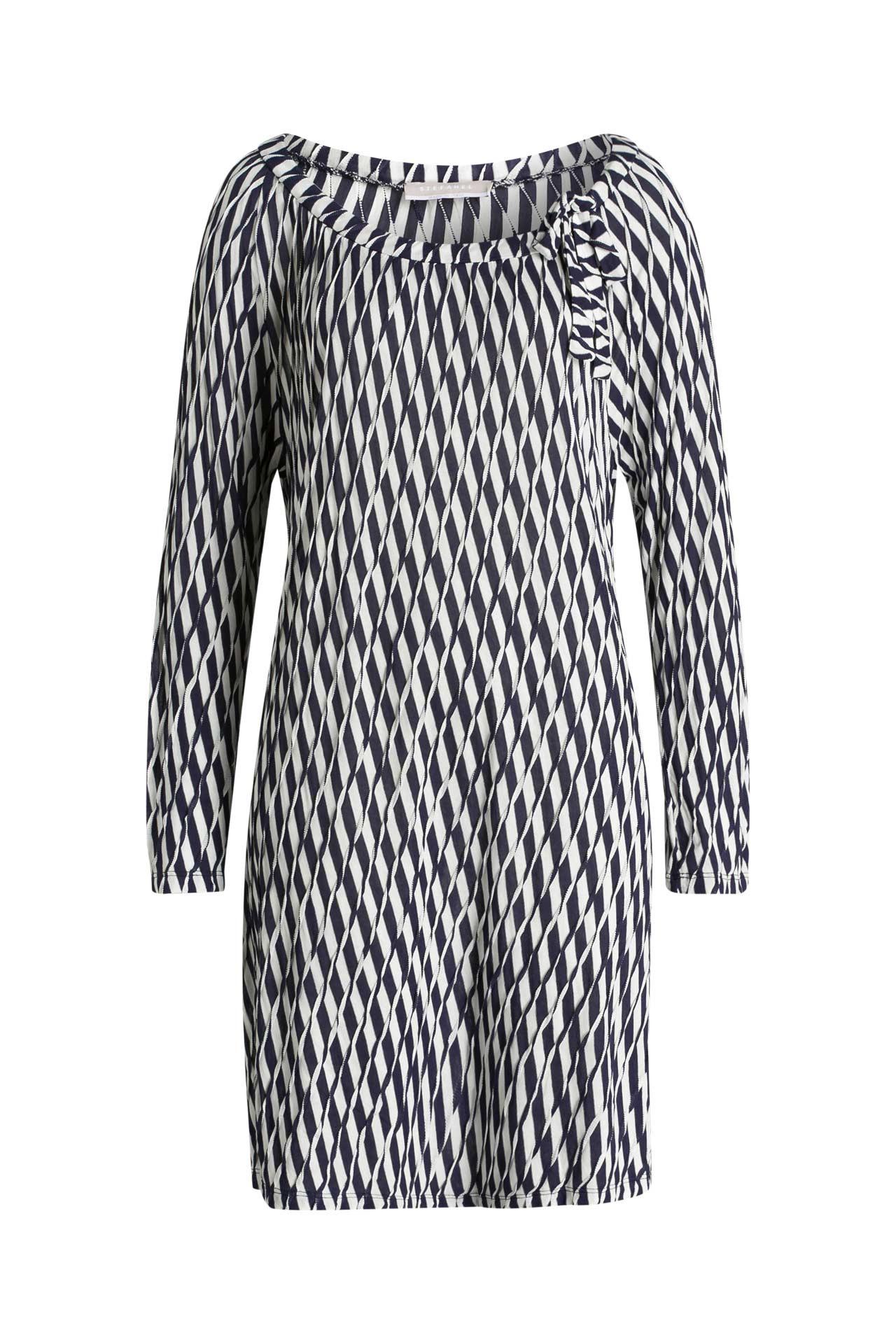 Kleid Blauweiß  Stefanel » Günstig Online Kaufen