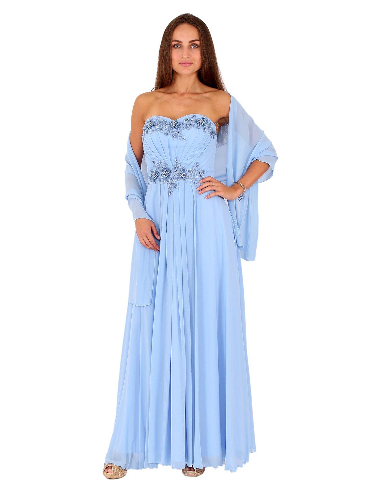 Kleid Chiffon Hellblau  Modische Damenkleider