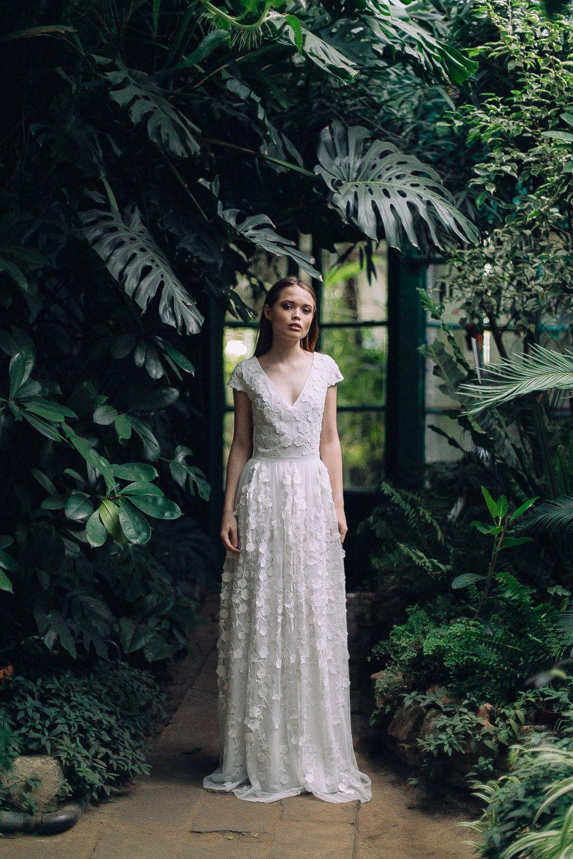 Kleid D0095  Hochzeitskleid Boho Brautkleid Romantische