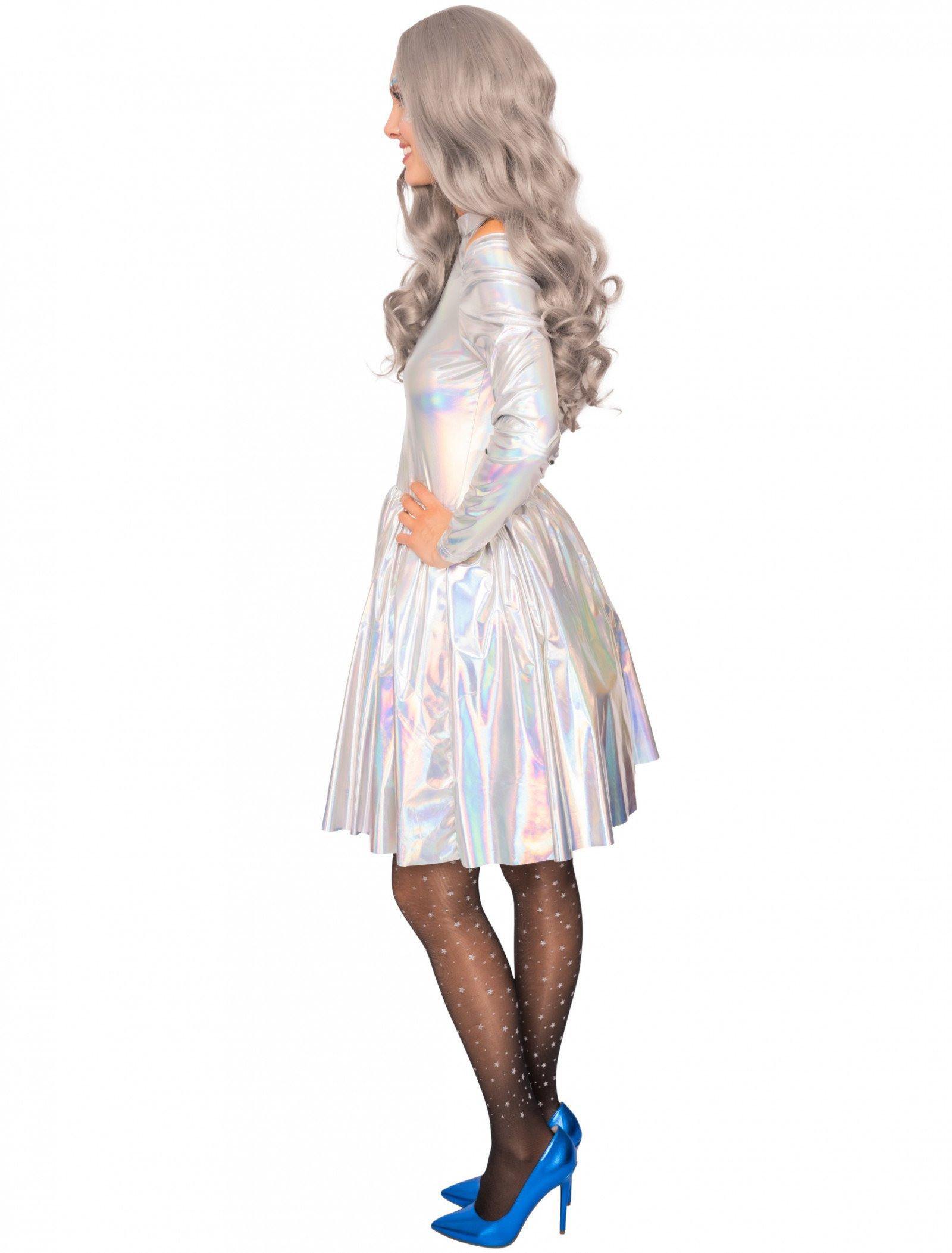 Kleid Damen Fancy Silber Für Karneval  Fasching Kaufen