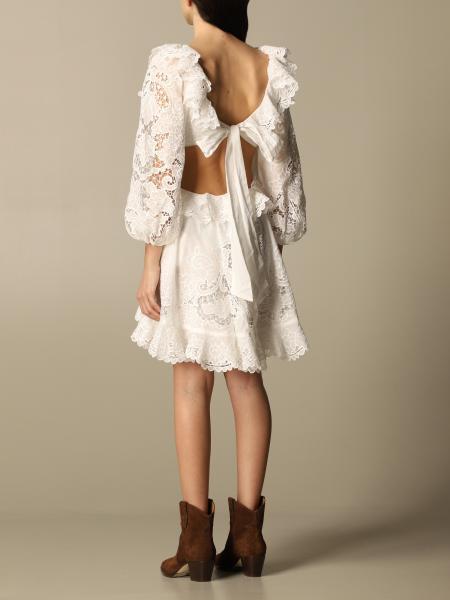 Kleid Damen Zimmermann  Kleid Zimmermann Damen Weiß