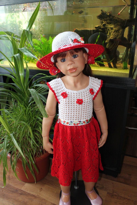 Kleid Der Rote Mohn Setkleidhut  Kleider Mädchen