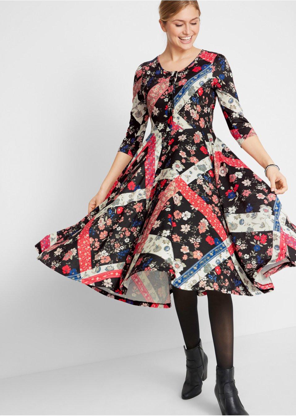 Kleid  Designt Von Maite Kelly Schwarz Gemustert  Bpc