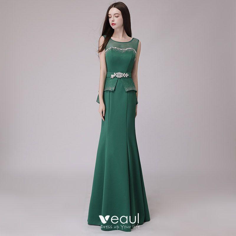 Kleid Festlich Dunkelgrün