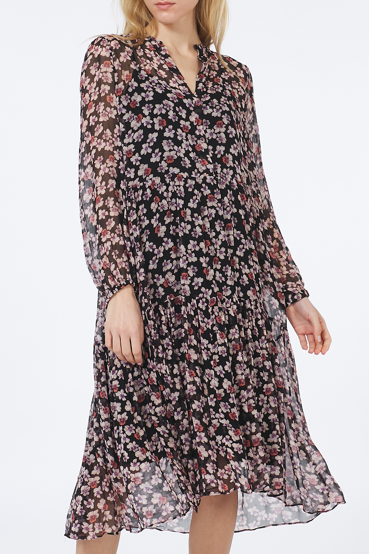Kleid Fleurir Aus Viskosechiffon  Second Female