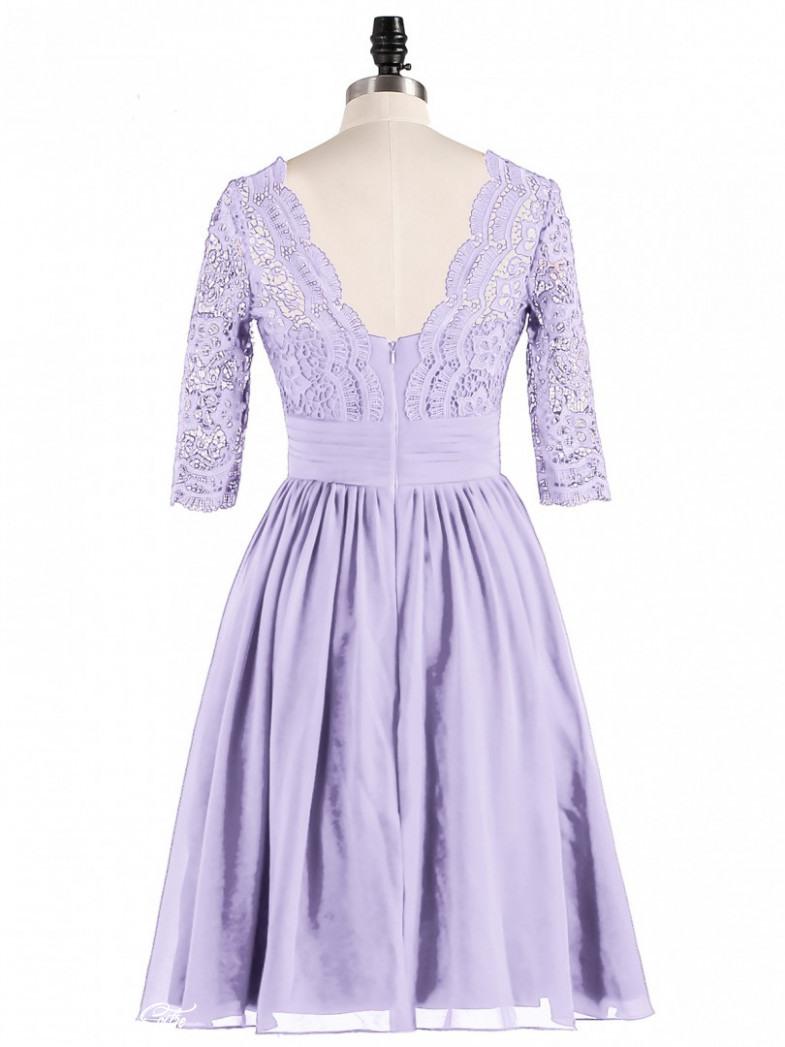 Kleid Flieder Spitze  Abendkleider