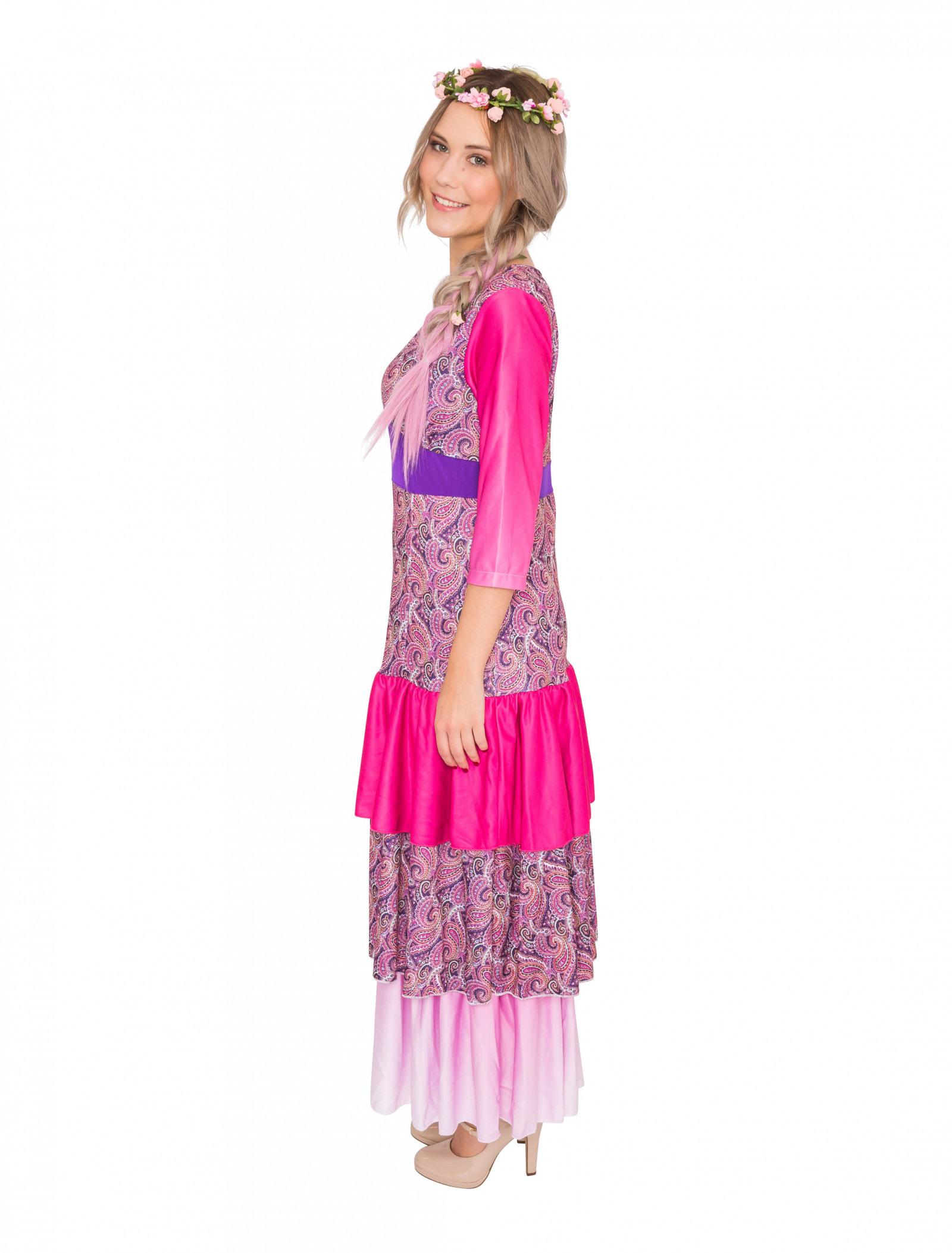 Kleid Flower Power Damen Pink Hier Kaufen » Deiters