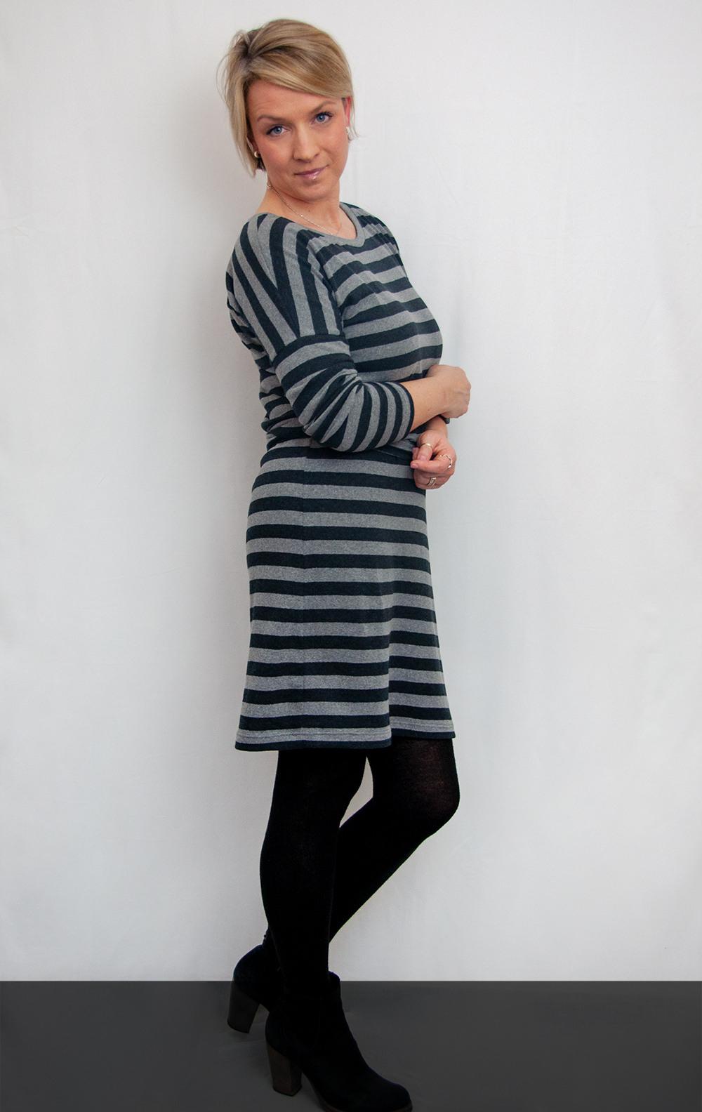 Kleid Frau Elly Aus Streifenstrick  Serendipity