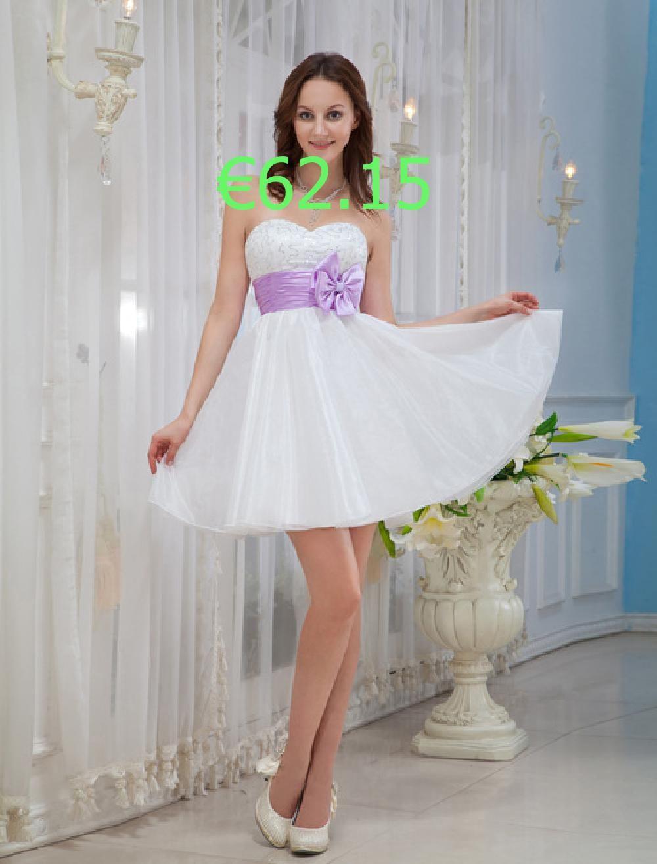 Kleid Für Abschlussparty Aus Organza In Weiß In 2020