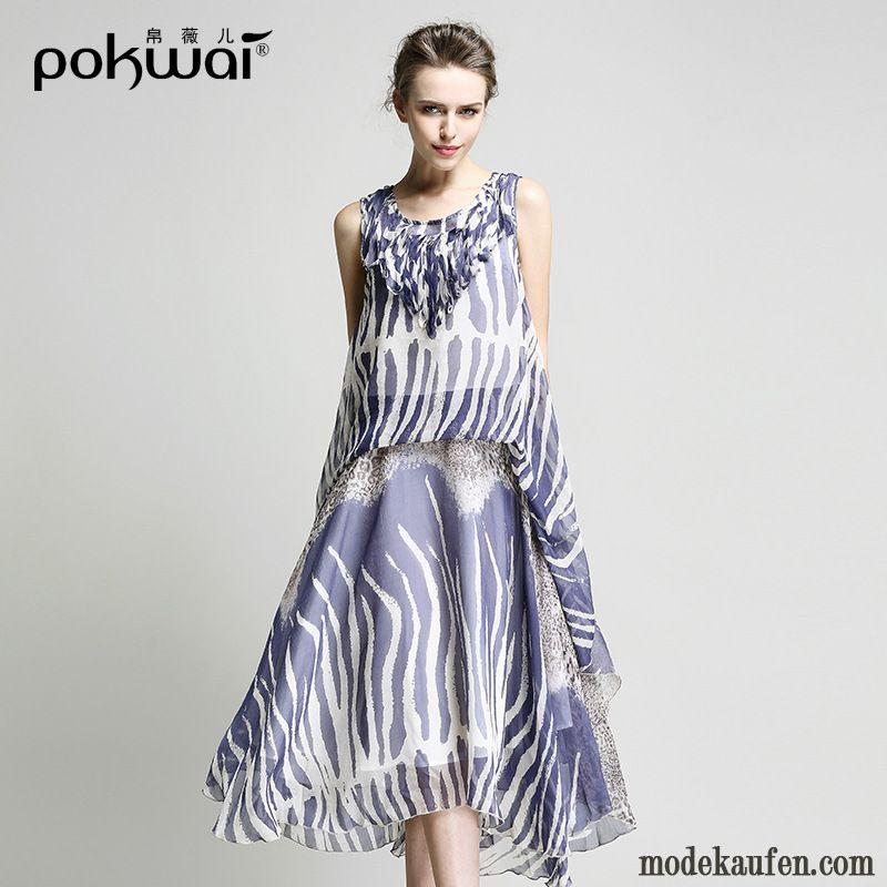 Kleid Für Ältere Damen Kleider Kupfer Weißes Langarm