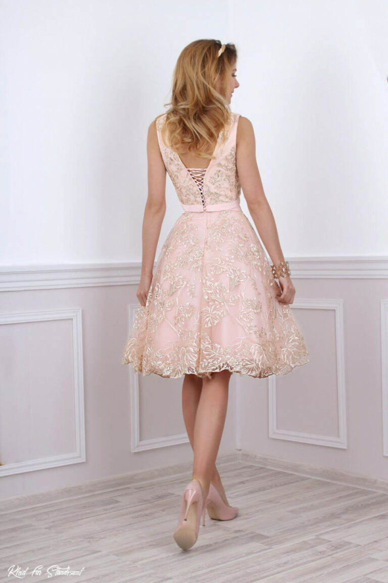 Kleid Für Standesamtliche Trauung In Rosa Gold