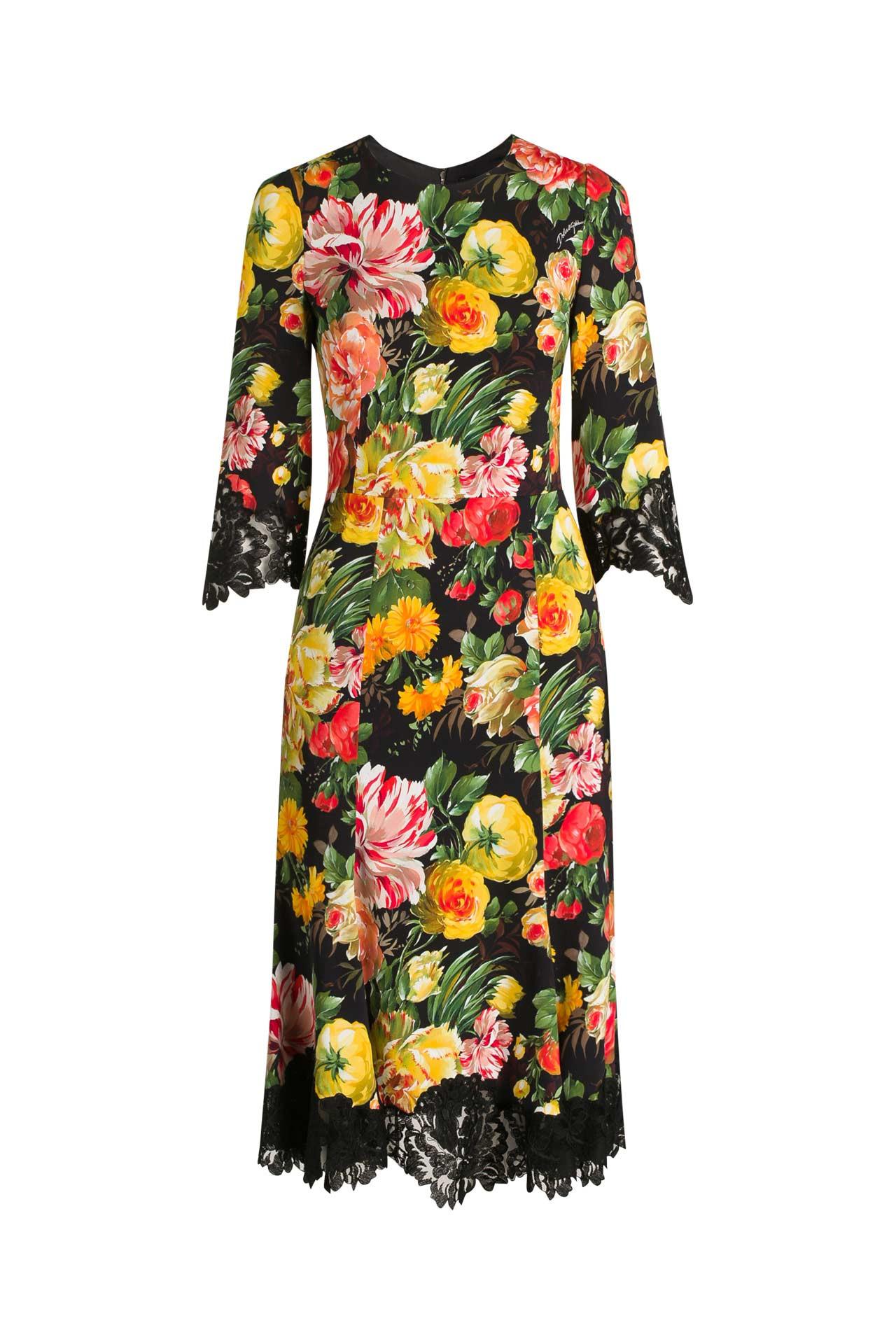 Kleid Gemustert  Dolce  Gabbana » Günstig Online Kaufen
