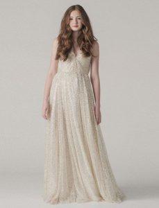 Kleid Gold Glitter