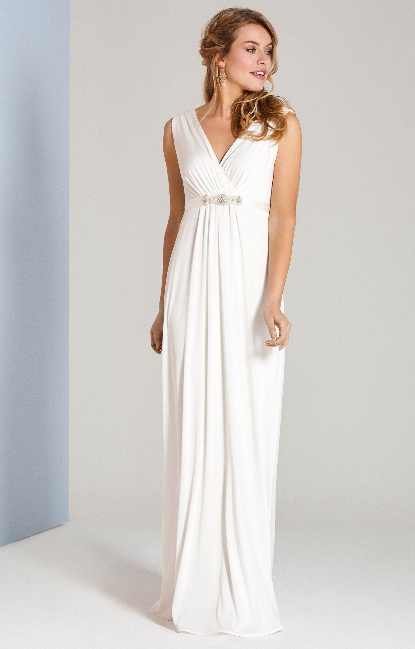 Kleid Havana Lang In Elfenbein  Hochzeitskleid Elegant