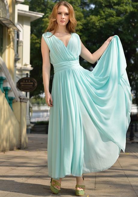 Kleid Hellblau Lang