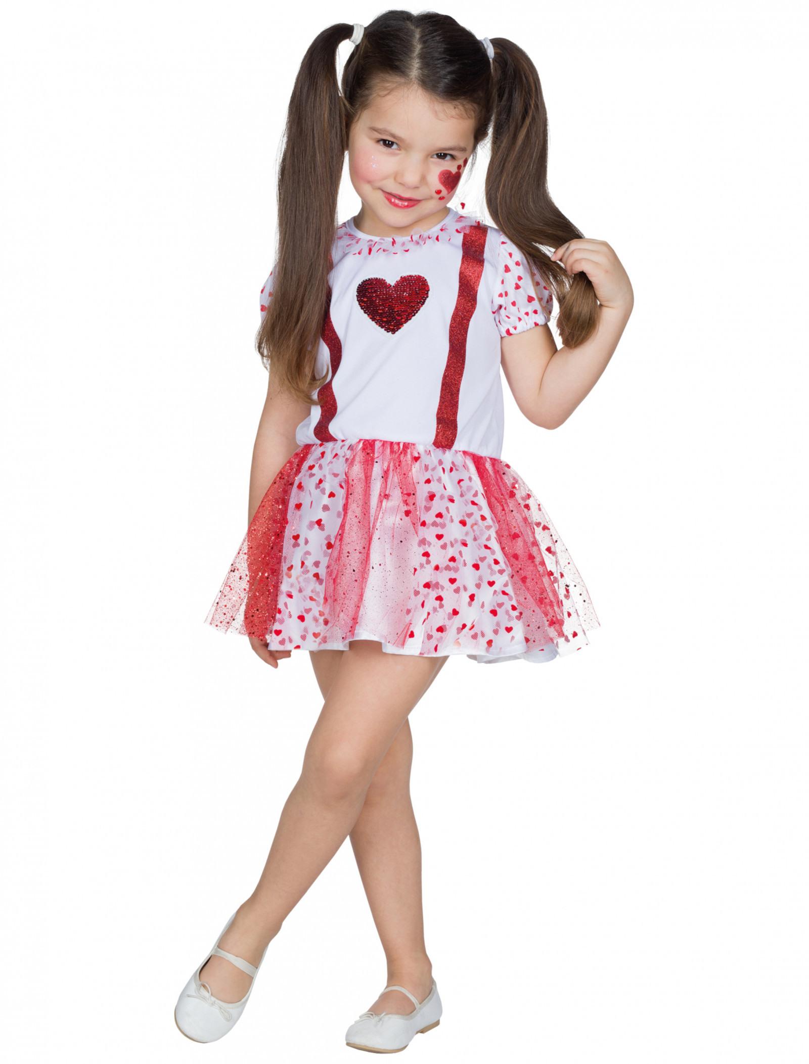 Kleid Herzchen Kinder Rot/Weiß Hier Kaufen » Deiters
