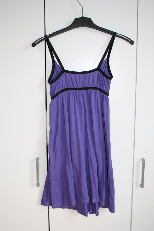 Kleid Hm Lila Schwarz  Kleiderkorbde