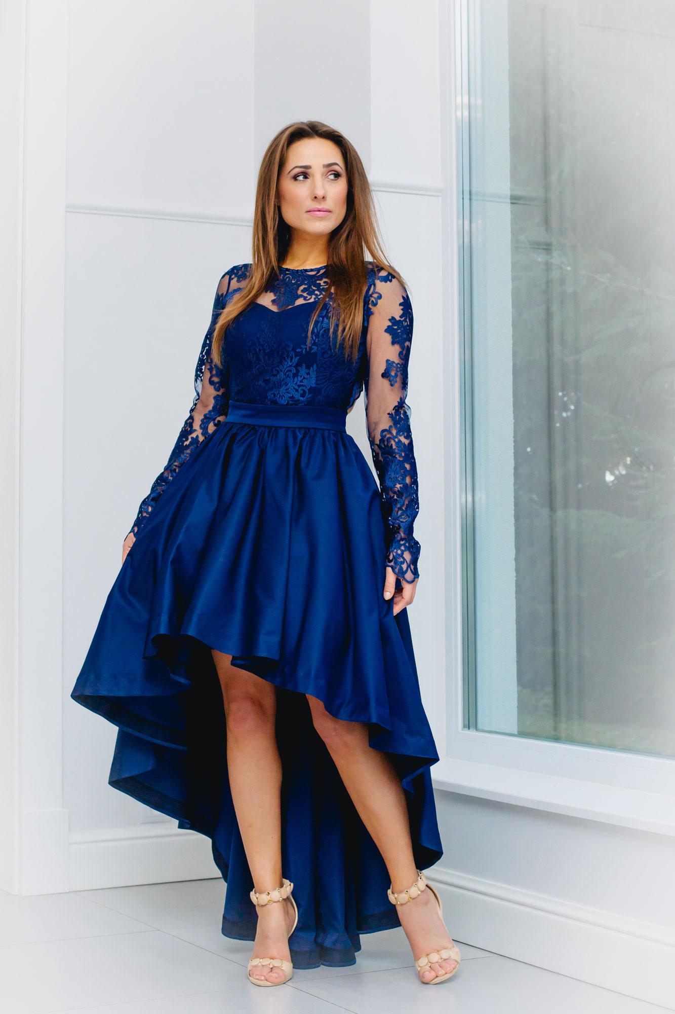Kleid Hochzeitsgast Mit Ärmel 5D8E08