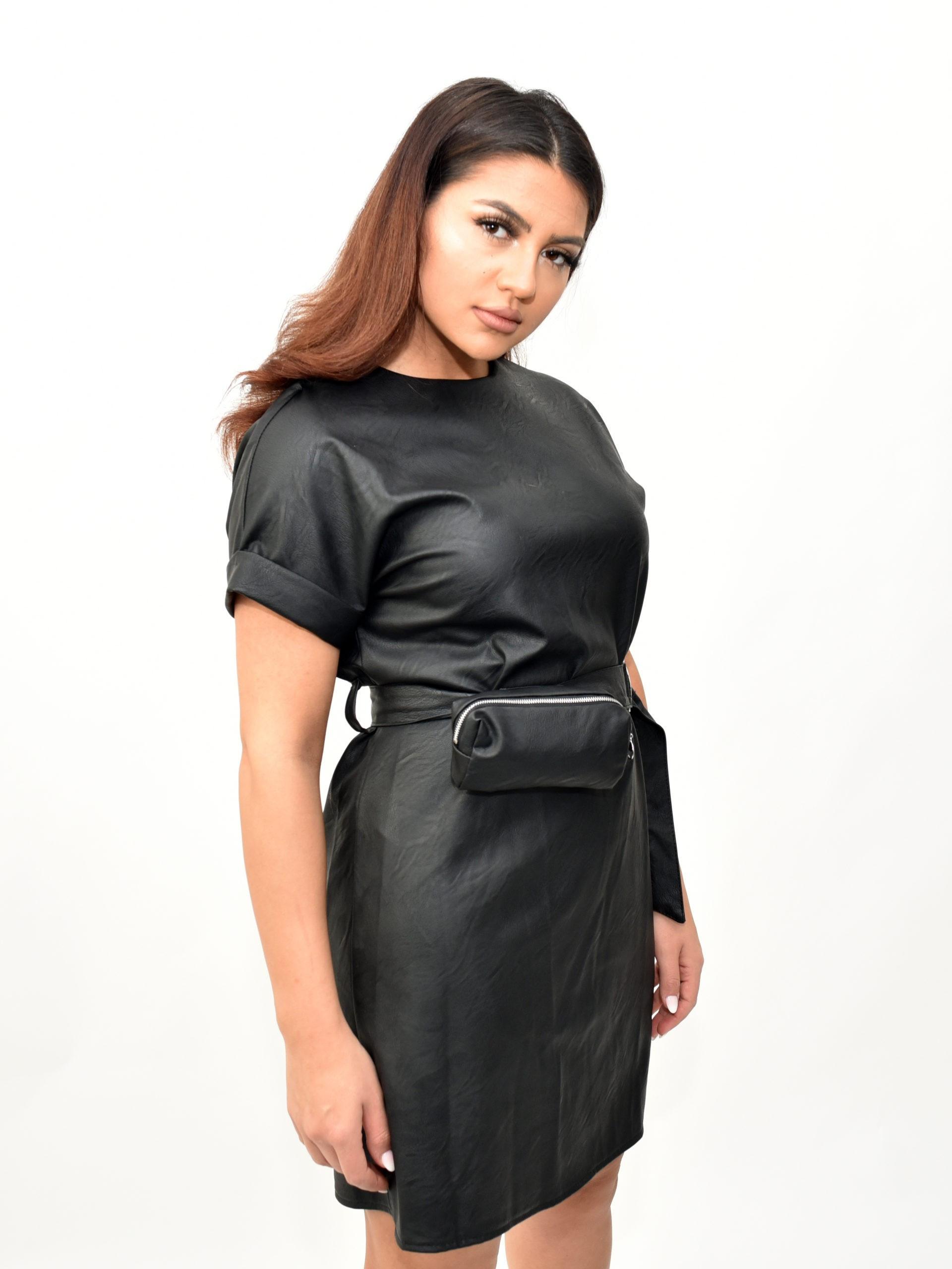 Kleid In Lederimitat - Mónage Fashion Store