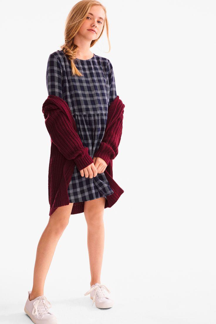 Kleid  Kariert  Ca  Tween Mode Mädchen Strumpfhose