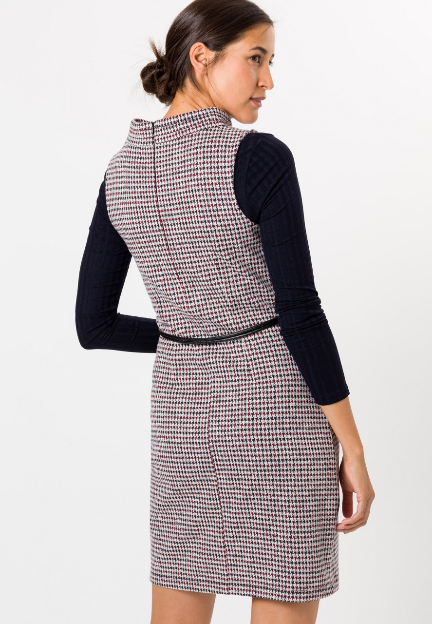 Kleid Kariert Kunstledergürtel  Kleider / Jumpsuits