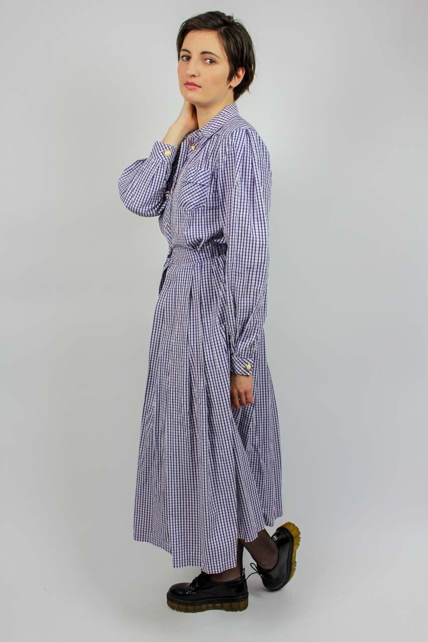 "Kleid Kariert Lila Weiß ""Anke""  Oma Klara"