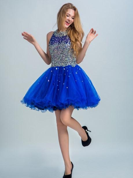 Kleid Königsblau Kurz