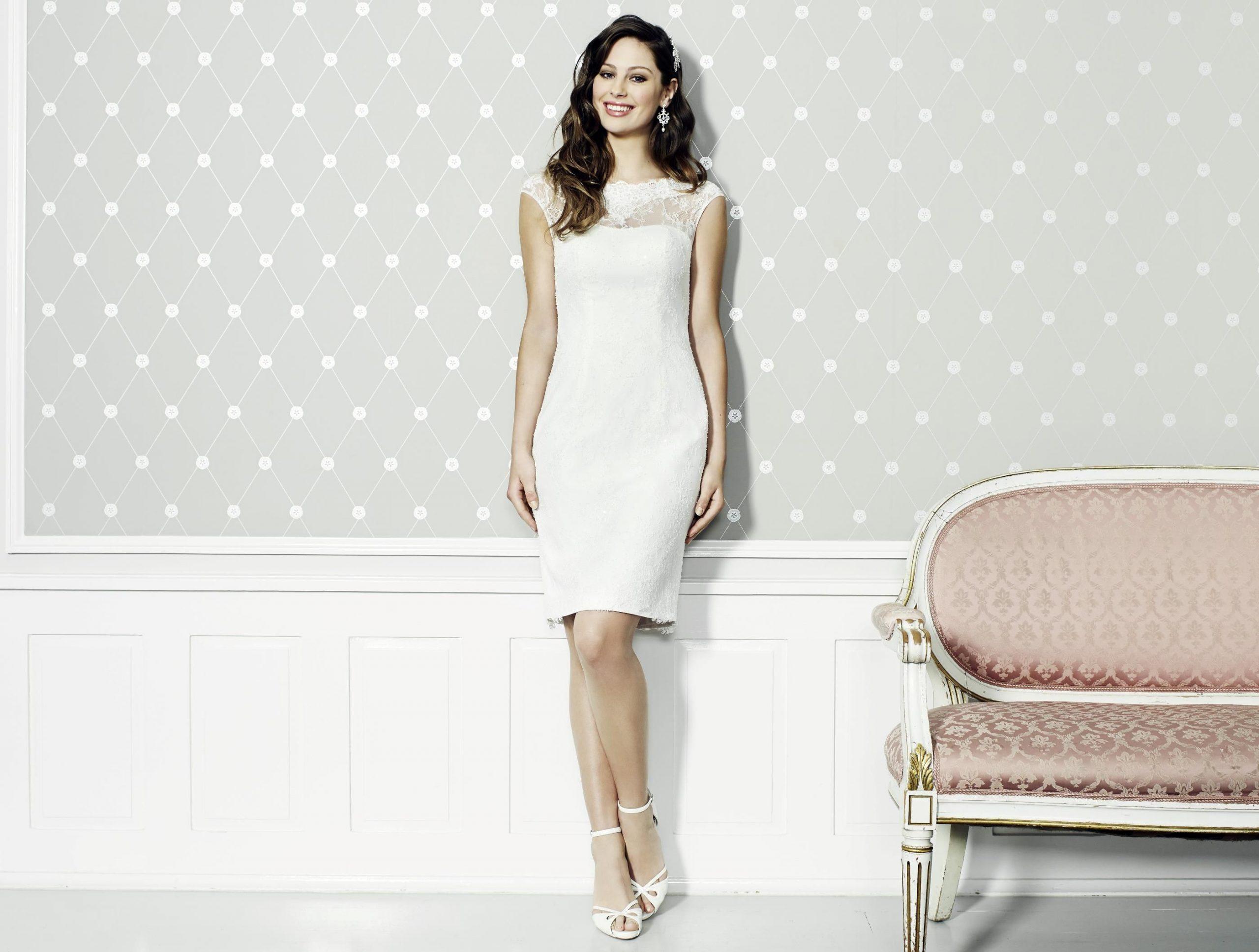 Kleid Kurz  Kleider Kleid Standesamt Brautmode