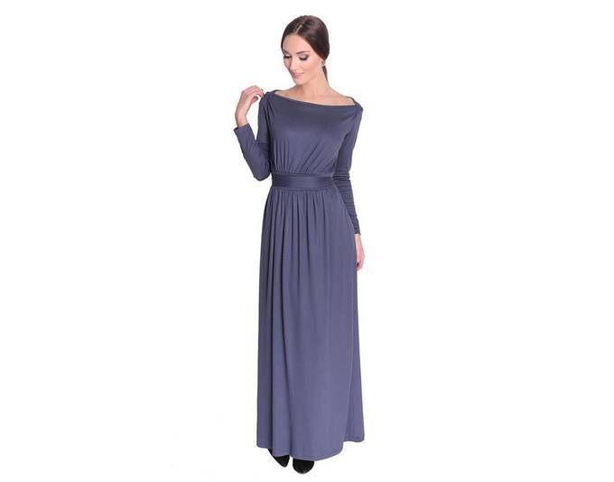 Kleid Lang Maxi Kleid Mit Schleife Gr Xs S M L Xl 8193