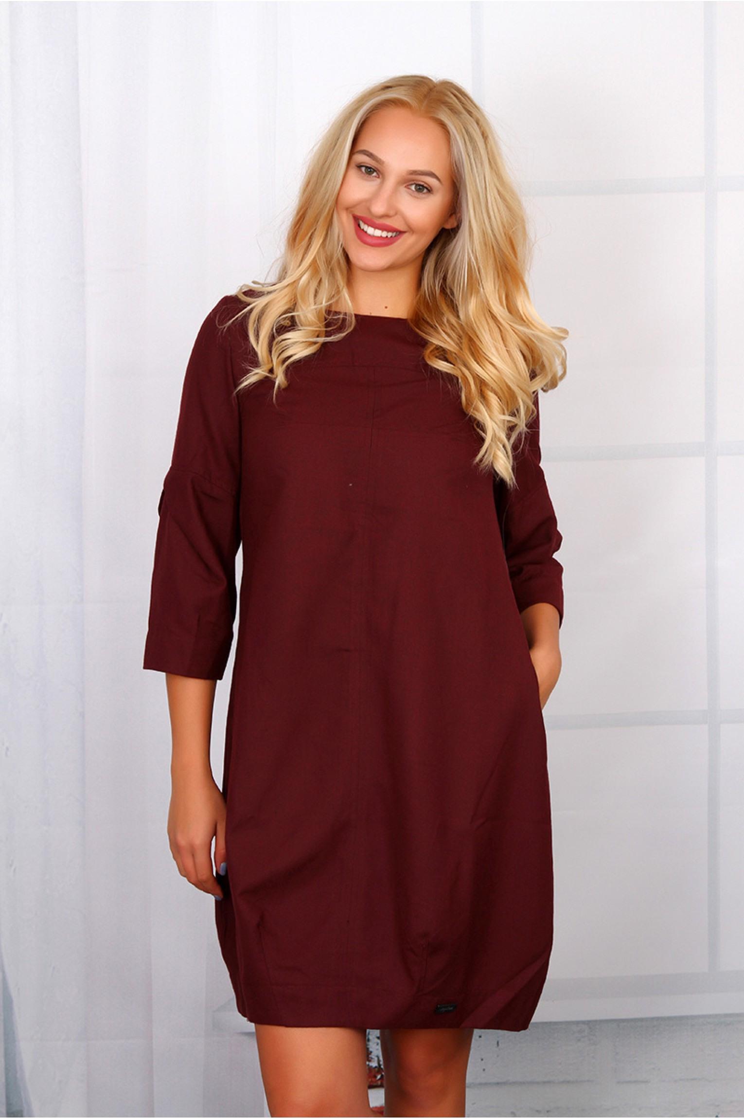 Kleid Langarm Bordeaux  Stylische Kleider Für Jeden Tag