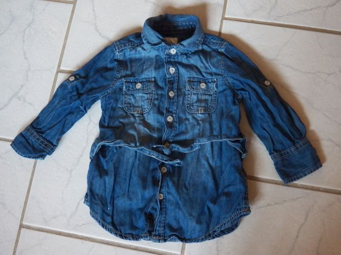 Kleid Langarm Jeanskleid Mit Gürtel Gr86 Logg H  M