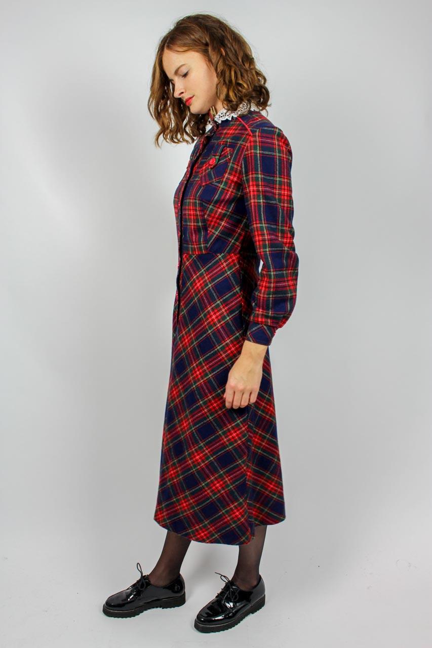 """Kleid Langarm Kariert """"Sabine""""  Oma Klara"""