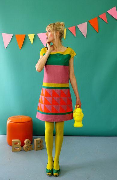 """Kleid """"Makilou"""" Im Colourblockinglook Bonnie"""