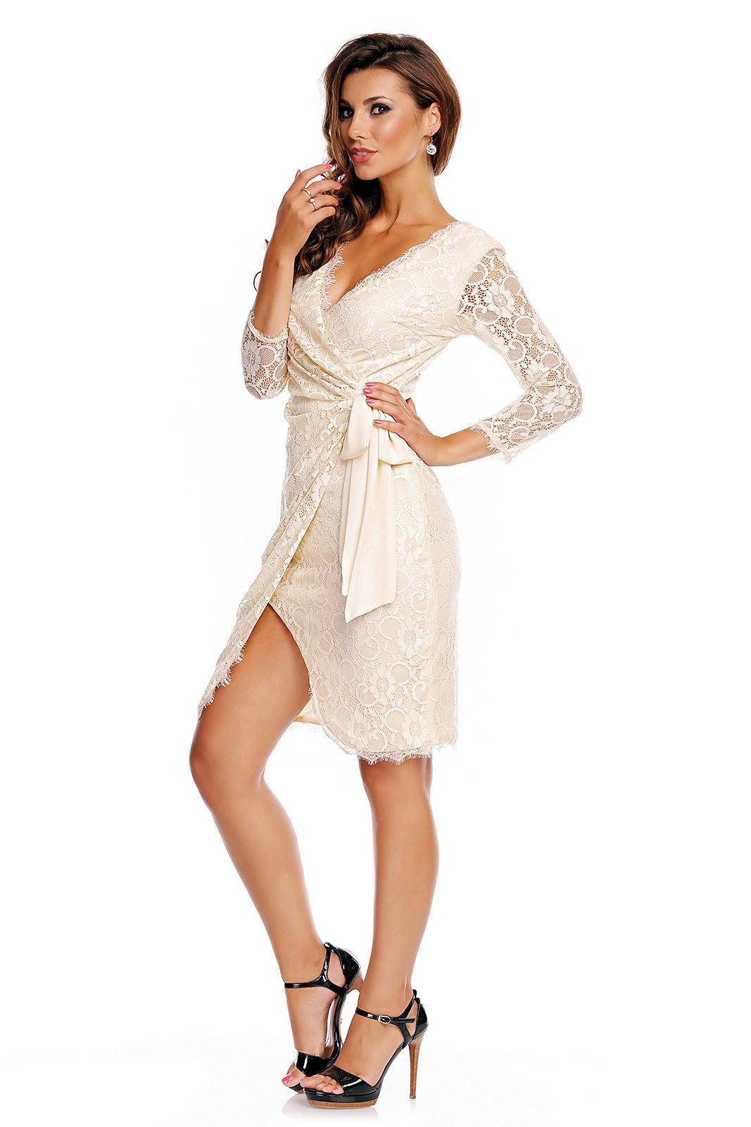 Kleid Mayaadi Hs369 Creme M 2990