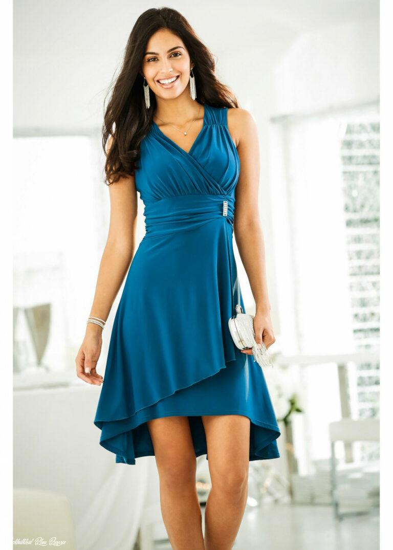 Kleid Mit Applikation Blau Bodyflirt Jetzt Im Online Shop