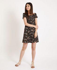 Kleid Mit Bardotausschnitt Schwarz  781241899I08  Pimkie