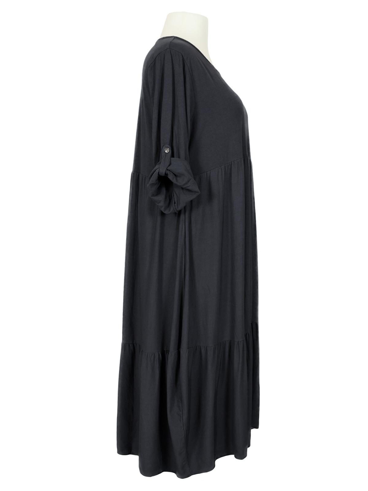 Kleid Mit Baumwolle Schwarz Von Spaziodonna  Meinkleidchen