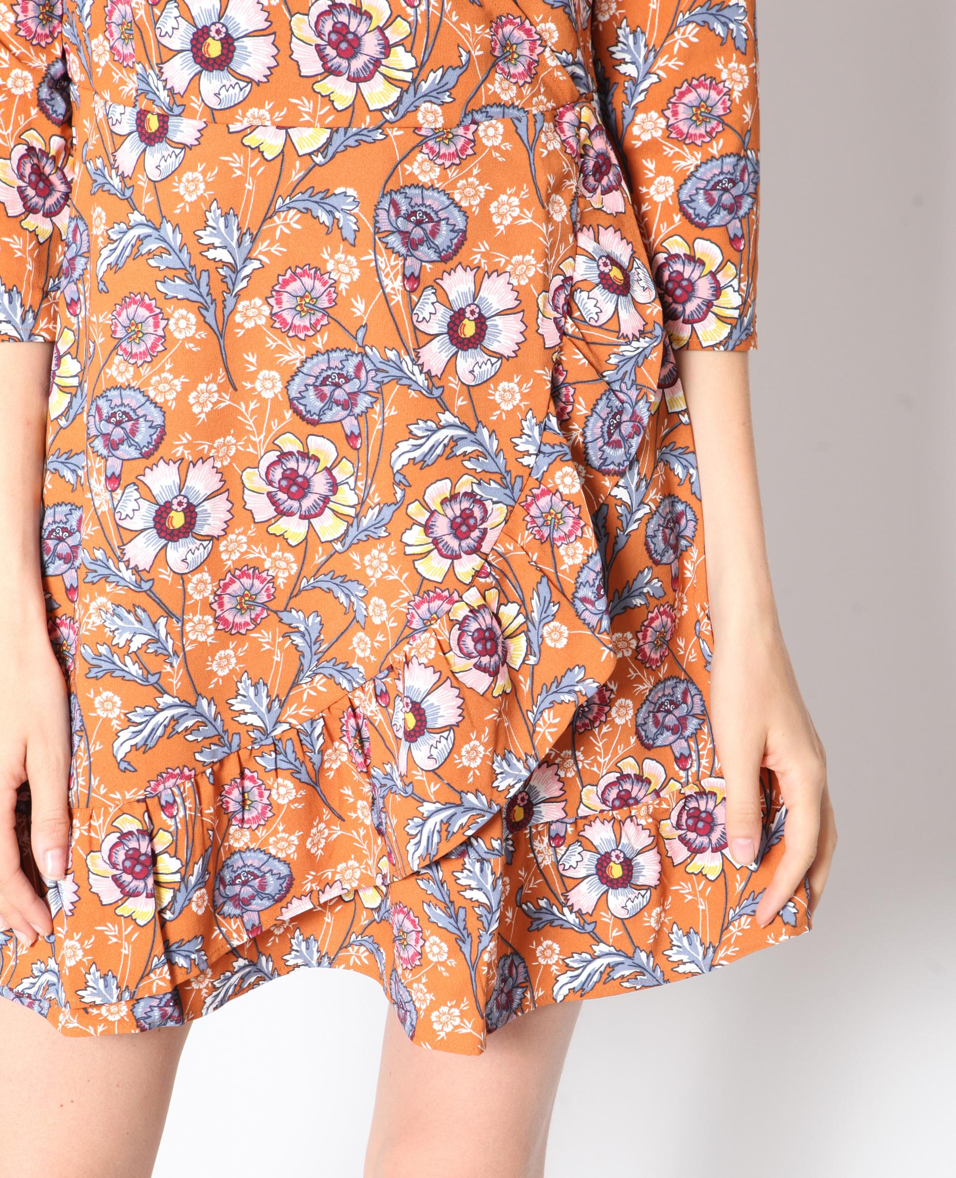 Kleid Mit Blumenmuster Braun  780909786E01  Pimkie