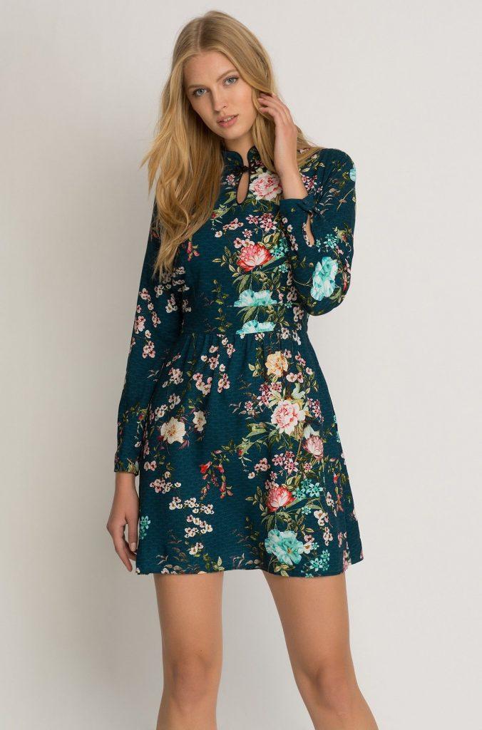 Kleid Mit Blumenmuster Orsay Kleider Schone Kleider Abendkleid