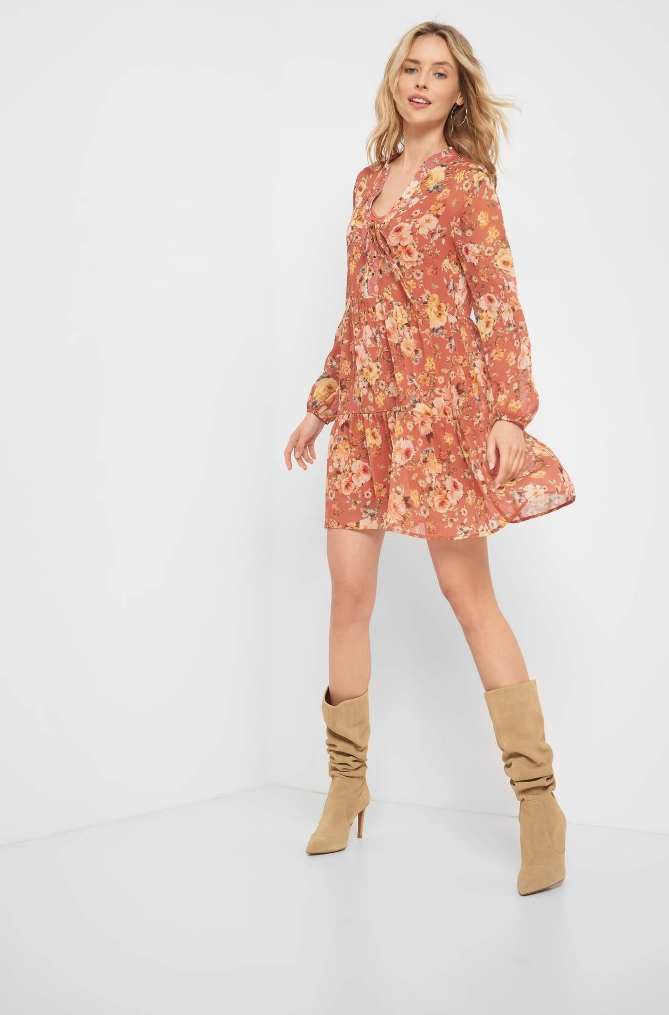 Kleid Mit Blumenmuster  Orsay