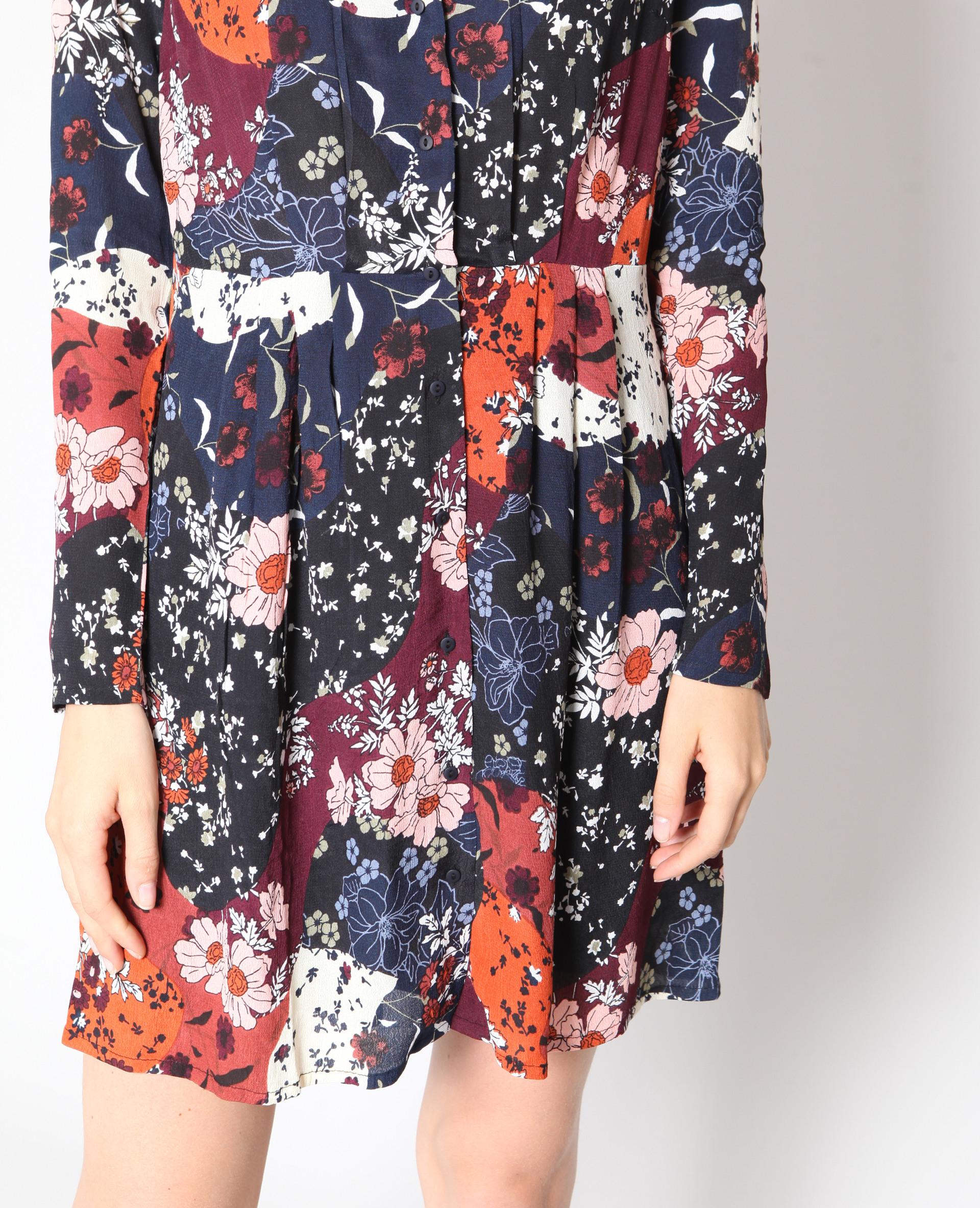 Kleid Mit Blumenmuster Rot  780930370E02  Pimkie