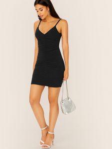 Kleid Mit Falten  Shein