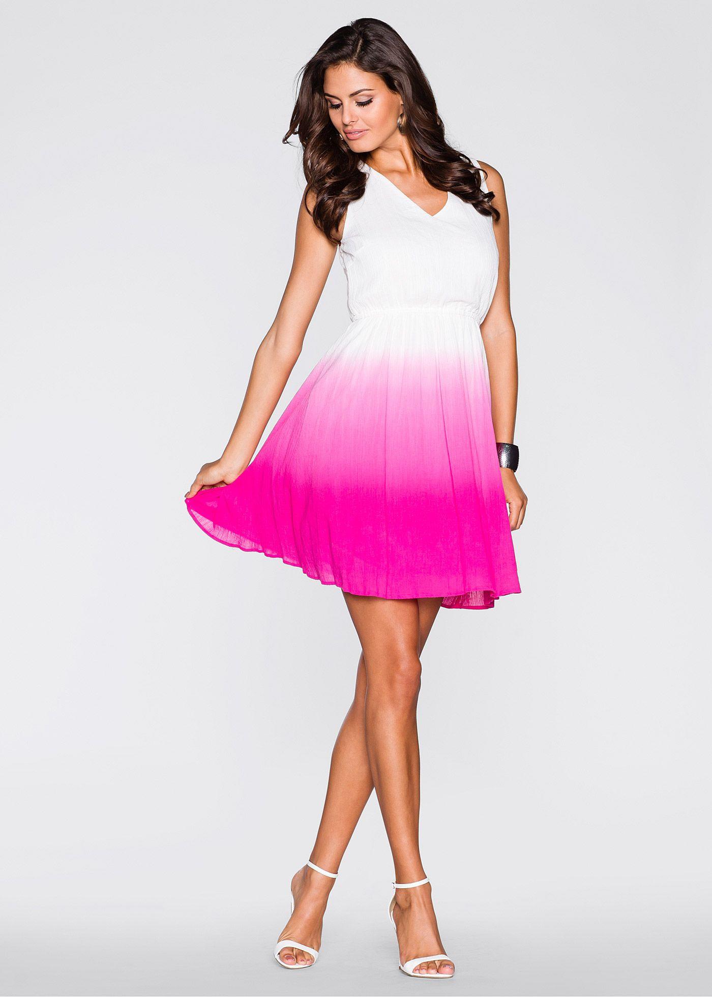 Kleid Mit Farbverlauf  Tolles Weißes Kleid Von Bodyflirt