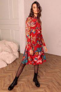 Kleid Mit Floralem Printmuster  Kleider  Ivko Woman