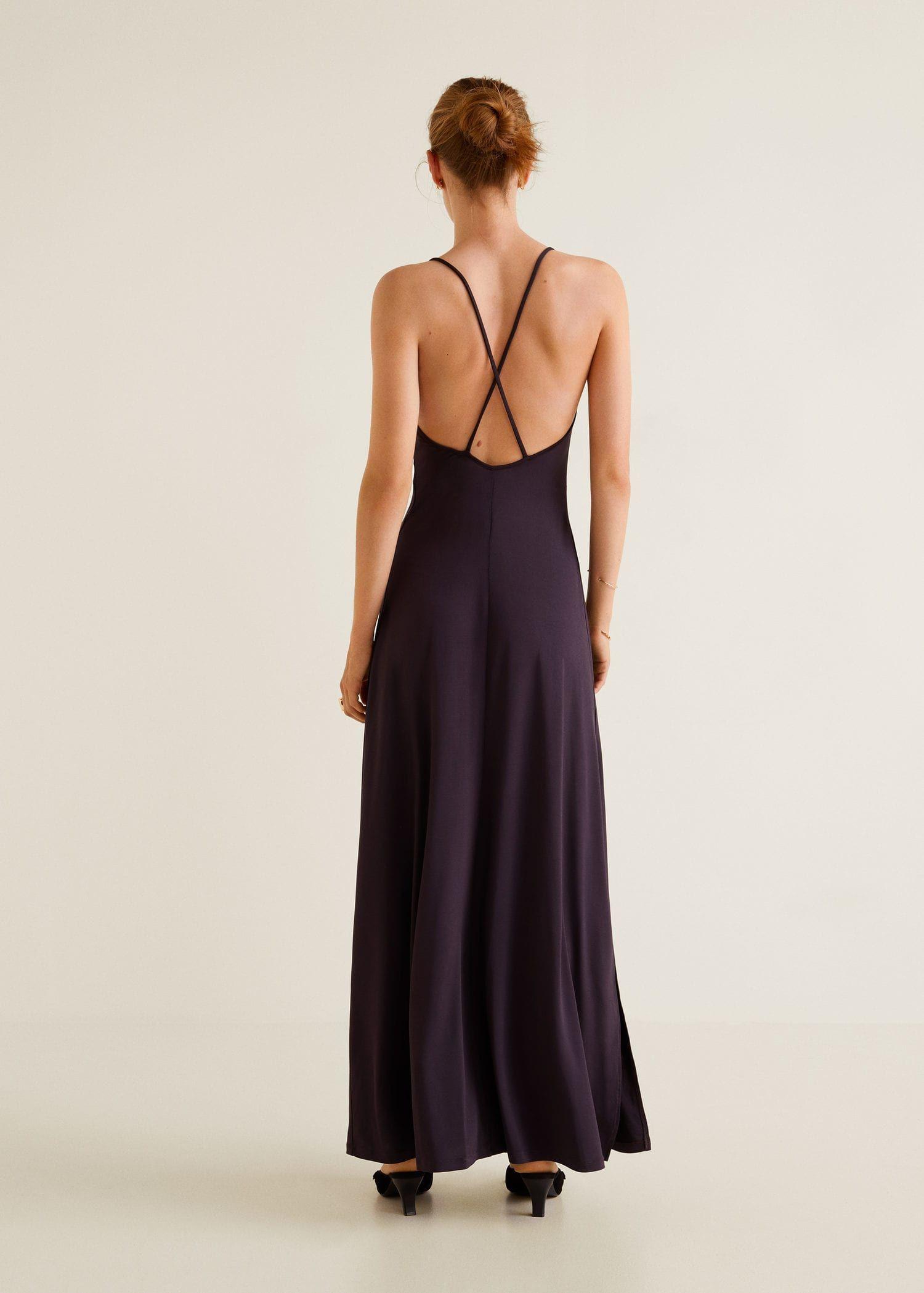 Kleid Mit Gekreuzten Trägern  Damen  Kleider Lange