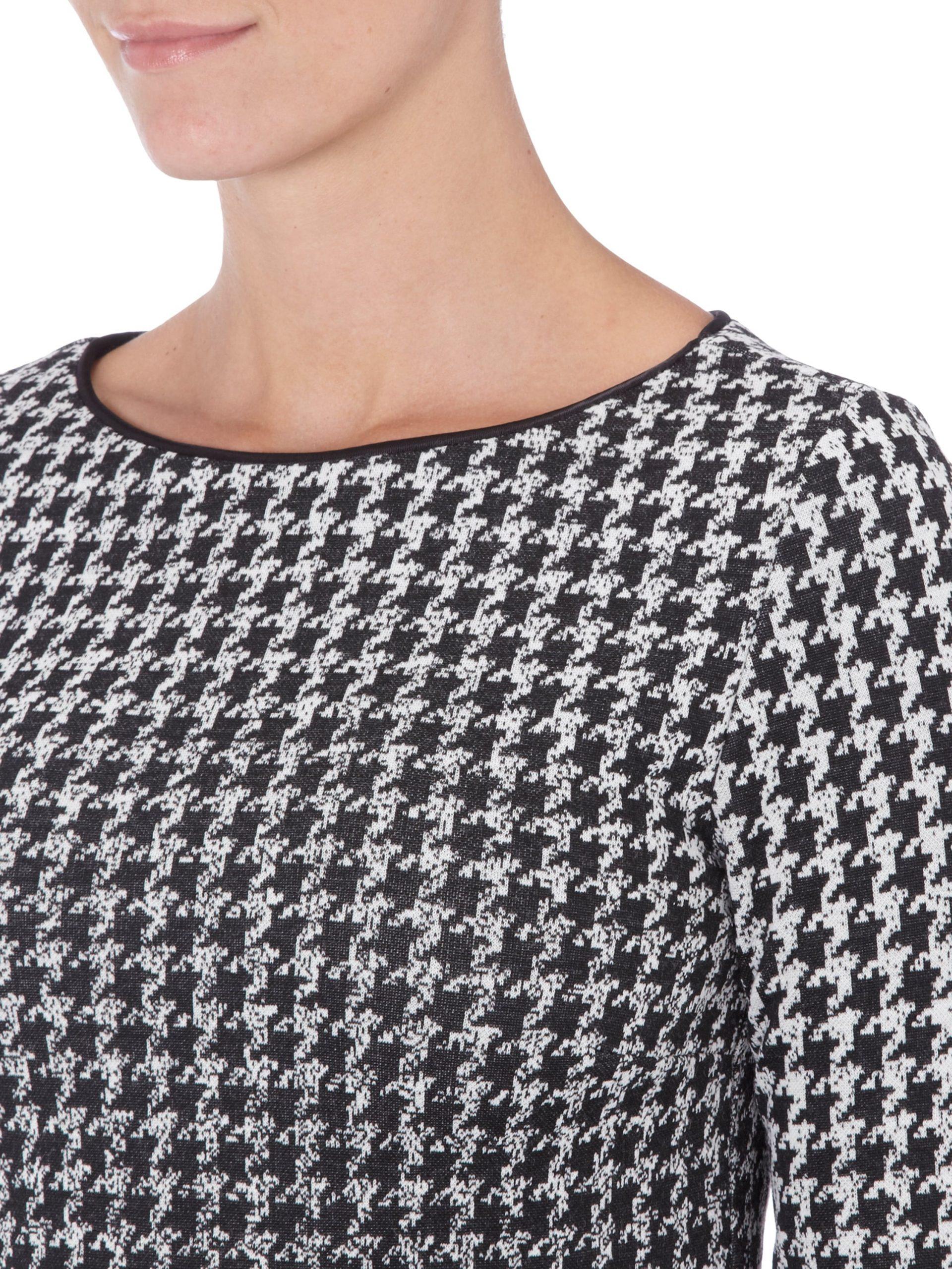 Kleid Mit Hahnentrittmuster  Fashion Id Online Shop