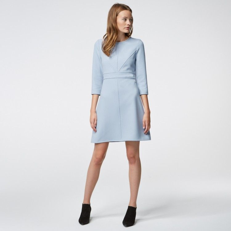 Kleid Mit Hervorgehobenen Nähten Hallhuber  Kleider