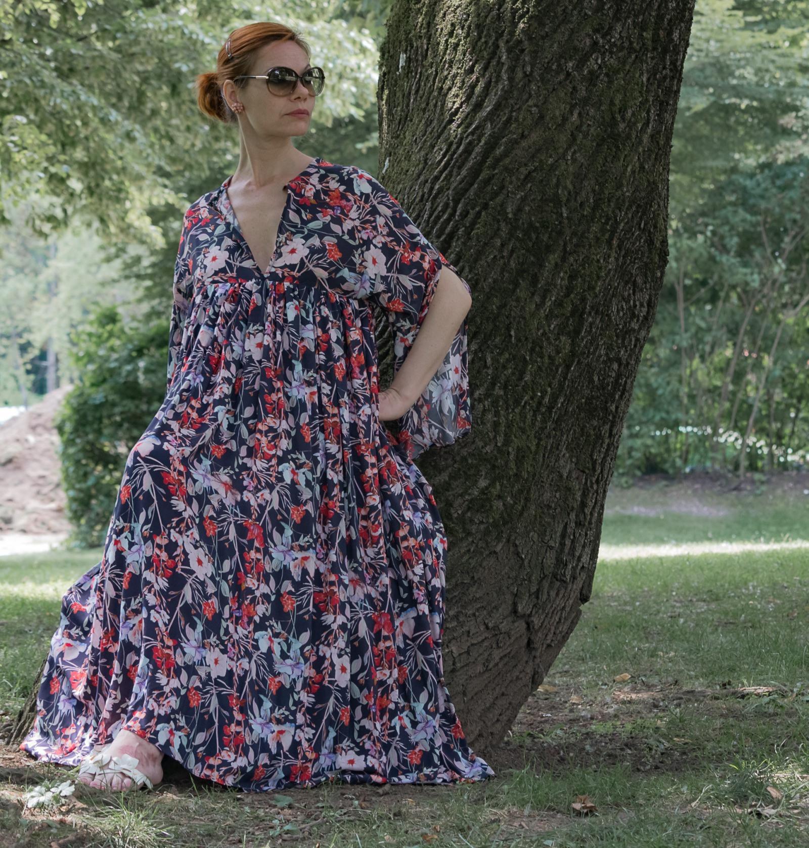 Kleid Mit Kimonoärmeln Maxikleid Sommerkleid Rot  Online